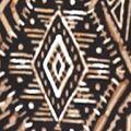 Ruby Rd: Black/Brown Multi Ruby Rd Plus Size Must Haves Embellished Diamond Printed Split Neck Top
