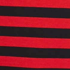 Ruby Rd: Red/Black Ruby Rd Key Items Stripe Top