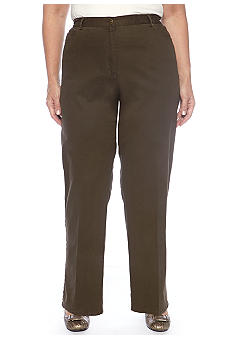 Ruby Rd Plus Size Stretch Twill Pant