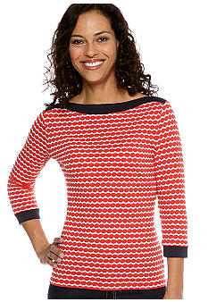 Ruby Rd Cruise Control Border Puffed Jersey Knit