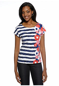 Ruby Rd Petite Cruise Control Sequin Spot Top