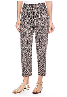 Ruby Rd The Great Escape Ikat Sateen Ankle Pant