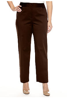 Ruby Rd Plus Size The Great Escape Sateen Ankle Pant