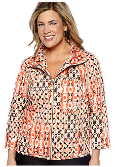Ruby Rd Plus Size The Great Escape Etched Patchwork Jacket