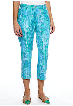 Ruby Rd Eye Candy Three Button Capri