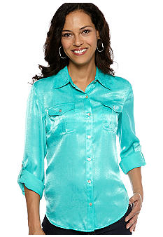 Ruby Rd Eye Candy Charmeuse Shirt