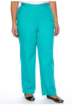 Ruby Rd Plus Size Eye Candy Colored Denim