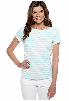 Ruby Rd Posh Play Short Sleeve Jersey Stripe Tee