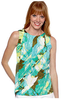 Ruby Rd Calypso Pleat Sleeveless Top