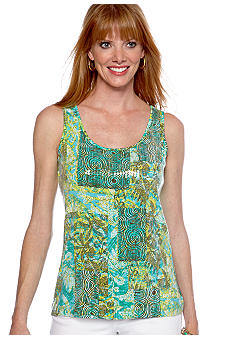 Ruby Rd Calypso Sleeveless Patchwork Sequin Top