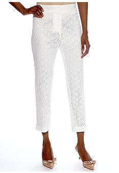 Ruby Rd Shell Party Dot Lace Ankle Pant