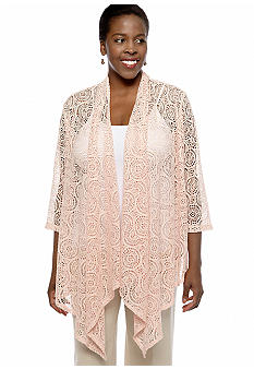 Ruby Rd Plus Size Lace Scarf Cardigan