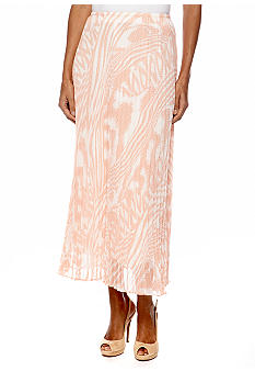 Ruby Rd Petite Shell Game Long Ikat Skirt
