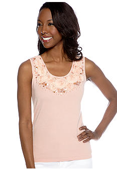 Ruby Rd Petite Shell Party Embellished Sleeveless Shell