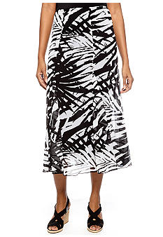 Ruby Rd Night and Day Printed Maxi Skirt