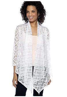 Ruby Rd Night and Day Zig Zag Crochet Cardigan