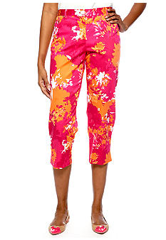Ruby Rd High Voltage Printed Sateen Capri