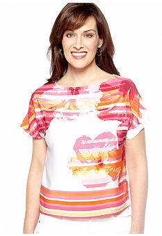 Ruby Rd High Voltage Boat Neck Short Sleeve CDC Top
