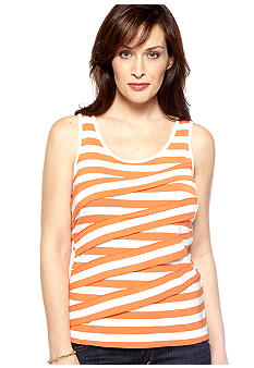 Ruby Rd High Voltage Asymmetrical Stripe Tank