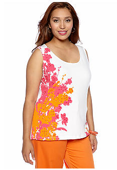 Ruby Rd Plus Size High Voltage Sequin Embellished Tank