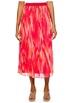 Ruby Rd Petite High Voltage Ikat Print Skirt
