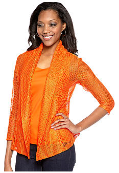 Ruby Rd Petite Volt Shawl Collar Sequin Cardigan