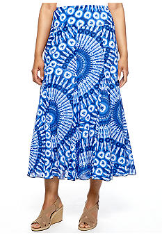 Ruby Rd Petite Beyond the Sea Gauze Maxi Skirt