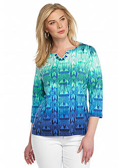 Ruby Rd Plus Size Must Haves Printed Knit Top