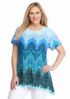 Ruby Rd Plus Size Must Haves Paisley Sharkbite Tee