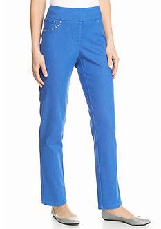 Ruby Rd Kaleidoscope Kool Embellished Pocket Denim Pants