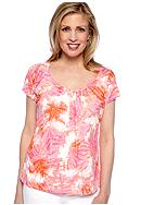Ruby Rd Favorite Tie Dye Knit Burnout