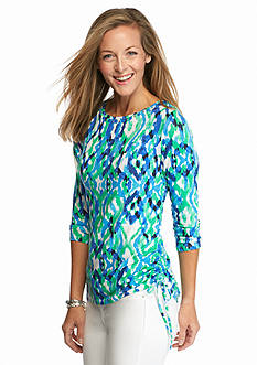 Ruby Rd Must Haves Embellished Printed Knit Top