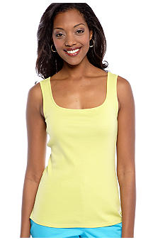 Ruby Rd Favorite Solid Rib Sleeveless Knit Tank
