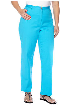 Ruby Rd Plus Size Key Items Side Elastic Twill Pant