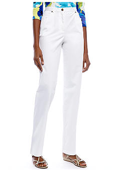 Ruby Rd Petite Key Item Side Elastic Stretch Twill Pant - Regular Length