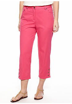 Ruby Rd Petite Favorite Three Button Hem Capri