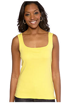 Ruby Rd Petite Favorite Solid Rib Sleeveless Knit Tank