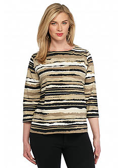 Ruby Rd Plus Size Must Haves Striped Knit Top