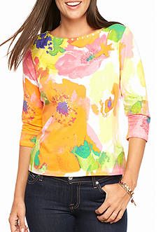 Ruby Rd Petite Must Haves Blossom Knit Top