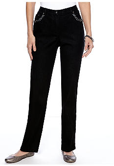 Ruby Rd Ruby Rd. Sunshine State Embellished Stretch Denim