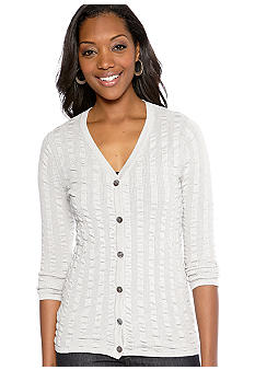 Ruby Rd Sunshine State Rib Stitch Lurex Cardigan
