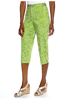 Ruby Rd Cocoa Beach Embellished Hem Clam Digger