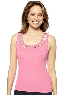 Ruby Rd Coco Embellished Sleeveless Shell