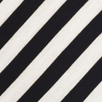 Women: Ruby Rd Tops: Black/White Ruby Rd Must Haves Striped French Terry Tee