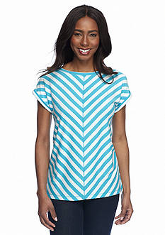 Ruby Rd Must Haves Striped French Terry Tee