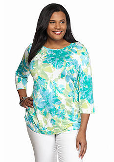 Ruby Rd Plus Size Must Haves Floral Knit Top