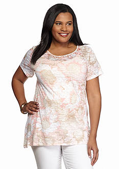 Ruby Rd Plus Size Must Haves Aztec Printed Top