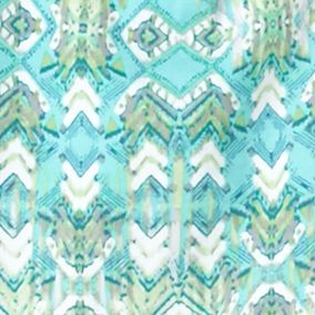 Ruby Rd Petites Sale: Seafoam Multi Ruby Rd Petite Must Haves Short Sleeve Aztec Print Top