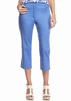 Ruby Rd Key Items Stretch Sateen Capris