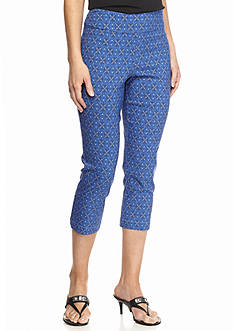Ruby Rd Key Items Printed Capri Pants